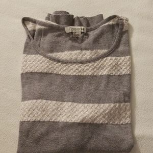 Forever 21 sweatshirt gray and white